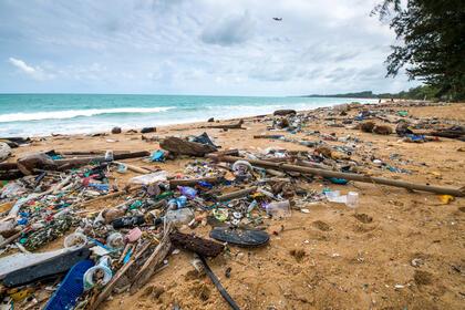 Plast i havet og på strender. TV-aksjonen 2020. Foto: Getty images
