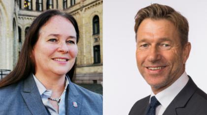 Hege-Merethe Bengtsson (Dnmf) og Terje Aasland (Ap.