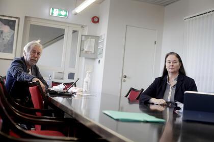 Svein Roger Mandal og Hege-Merethe Bengtsson fra Dnmf
