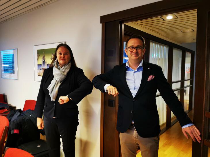 Bengtsson og Ruland under NORmeklingen