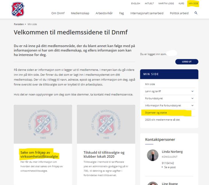 Hvordan du finner informasjon om å søke støtte fra Dnmf